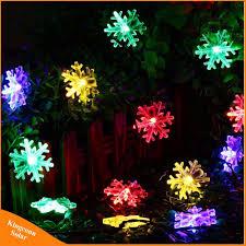 Snowflake Solar Christmas Lights Hot Item 20 Led Snow Flake Flowers Solar String Fairy Lights Waterproof Outdoor Solar String Lights Decorated Garden Christmas