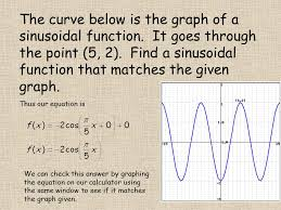 the curve below is the graph of a sinusoidal function