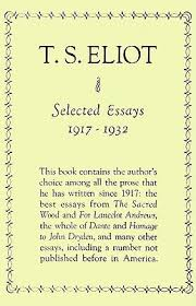 selected essays by t s eliot
