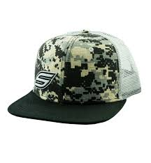 Snapback Hat, Black Gray Digital Camo Trucker - Social Paintball