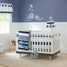 baby boys 3 pc nursery crib bedding set