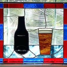 faux stained glass stained glass window decor beer stained glass window panel flattened beer bottle