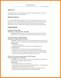 Call Center Skills Resume Customer Service Call Center Resume For Objective Banking 80