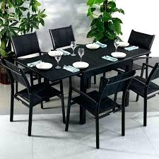 6 seater garden table and chairs modern black 6 extending garden furniture glass top outdoor dining