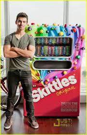 Skittle Vending Machine Beauteous Joe Jonas Scores Skittles Vending Machine Photo 48 Photo