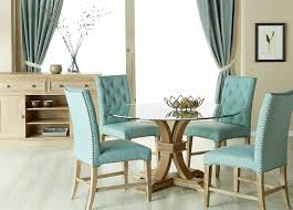 devon 54 round glass top dining set with wilshire chair