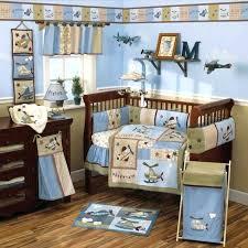 airplane crib bedding sets vintage airplanes blue 4 piece crib bedding set vintage airplane crib bedding