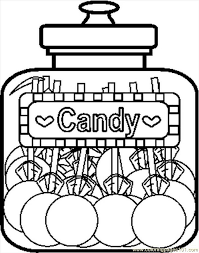 Small Picture Candyjar8bw Coloring Page Free Candy Coloring Pages