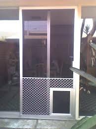 sliding door pet door installation instructions notched glass