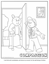Small Picture Compassion Coloring Page A Cub Scouting Core Value Ideas for