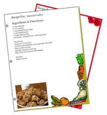 Recipe Form Templates Binder Sized Free Recipe Card Templates
