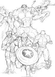 Marvel Super Hero Coloring Pages Henry And Bennett Superhero