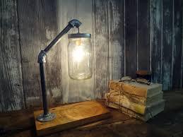 industrial chic lighting. Full Size Of Lighting:mason Jar Desk Lamp Industrial Light Excellent Chic Lighting Pictures Design E