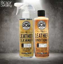 chemical guys leather cleaner conditioner complete leather care kit 16 oz
