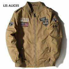 LIS ALICES 2018 New <b>Military Jacket Men Spring</b> Cotton Jacket ...