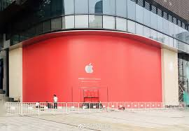apple is set to open a new in suzhou jiangsu china photos of the curly under construction in the iconic gate to the east building