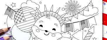 Download these pretty free printable 4th of july coloring pages for your kids or for guests at your independence day party! 4th Of July Free Coloring Printables Thank You Me
