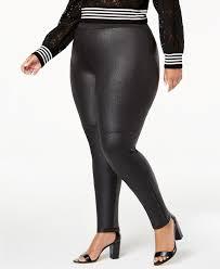 inc plus size faux leather leggings