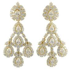 graff diamond chandelier earclips for