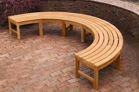 photo 3 of 7 diy curved bench 3 natural wood curved outdoor bench