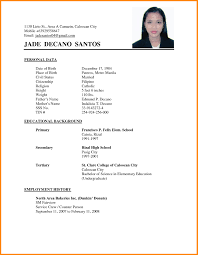 Resume Sample Applicant Resume Sample Filipino Gentileforda 13