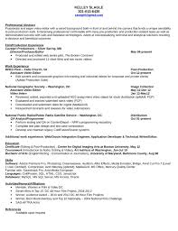 Video Editor Resume Template Best Resume Collection