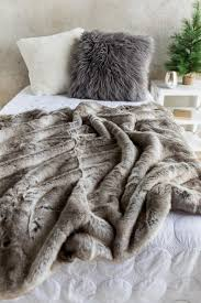 Brown Contrast Faux Fur Blanket | francesca's & Brown Contrast Faux Fur Blanket- gift-cl Adamdwight.com