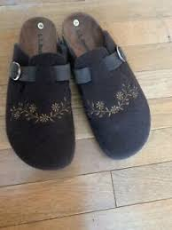 Details About Llbean Women S Mules Clogs Wool Felt Shoes Made In Spain Size 39 8 5 9us Brown