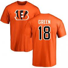 A Men's j Sports Green Bengals amp; T-shirt Number Name Team Cincinnati - Pro 18 Line Orange