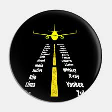 Syllables to be emphasized are underlined for the letters. Funny Phonetic Alphabet Airplane Pilot Pin Teepublic