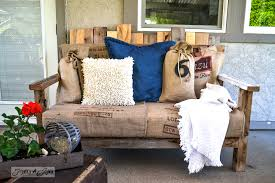 funky patio furniture. Pallet Wood Outdoor Sofa Via Funky Junk Interiors Patio Furniture