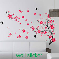 large swallow plum blossom wall sticker for bed room decoration pvc home decal cherry blossom sticker vinyl wall art es vinyl wall art stickers from