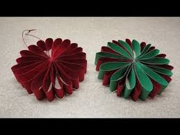 Paper Flower Christmas Tree Folded Flower Christmas Tree Ornament Youtube