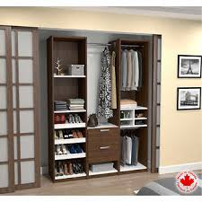 reach in closet organizers do it yourself. Bestar - Cielo Oak Impact Deluxe Reach-In Closet Reach In Organizers Do It Yourself