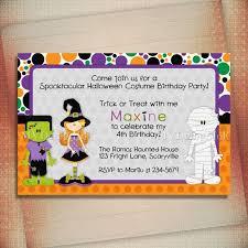 Halloween Invitation Halloween Birthday Invitation
