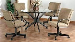 dining room table and chairs with casters sets