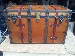 picture of restoring a vintage steamer trunk