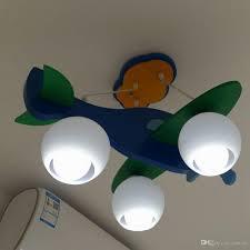 Airplane Pendant Light Oovov Cartoon Blue Wooden Airplane Pendant Lighting Creative Kids Room Bedroom Pendant Lamp Boys Room Pendant Lights Led Pendant Lights Drum Pendant