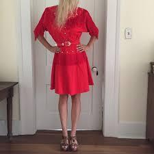 Vintage Dresses | Vintage Fringe Western Dress Wbelt Lilia Smith M |  Poshmark