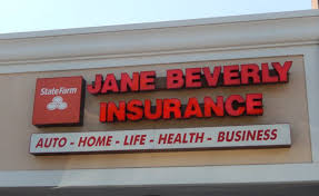 jane beverly insurance office has a glass door