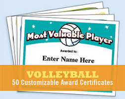 volleyball certificate template volleyball certificate templates printable customizable awards