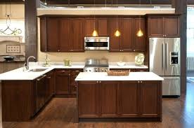 kitchen unfinished wall cabinets with glass doors ikea frosted ing cabinet knobs brushed nickel where to