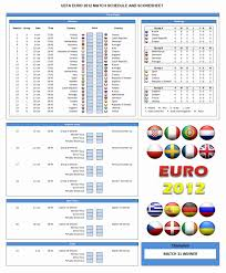 Disclosed Euro Championship Fixtures Chart 2019
