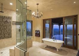 luxury master bathroom suites. Interesting Luxury Luxury Master Bathroom Suite With Crystal Chandelier And Stunning Balcony  Views Throughout Master Bathroom Suites A