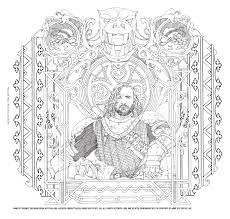 Game Of Thrones Coloring Book Geeknation Coloring Books Color