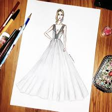 Image result for fashion design sketches of dresses 2017