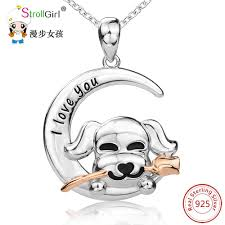 <b>StrollGirl 925 Sterling Silver</b> Chain Pendant Necklace Fashion ...