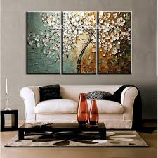 large abstract wall art panel wall art large 3 panel wall art abstract white flower tree of life textured oil painting set on canvas bedroom deco home  on canvas wall art tree of life with wall art designs large abstract wall art panel wall art large 3