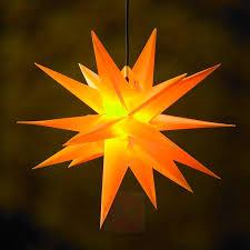 18 Zackiger Xl Kunststoff Stern Für Außen Gelb