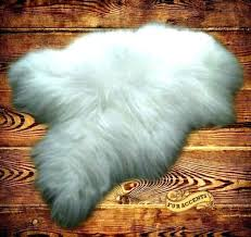large fur rug fake rugs white furry faux bear skin canada